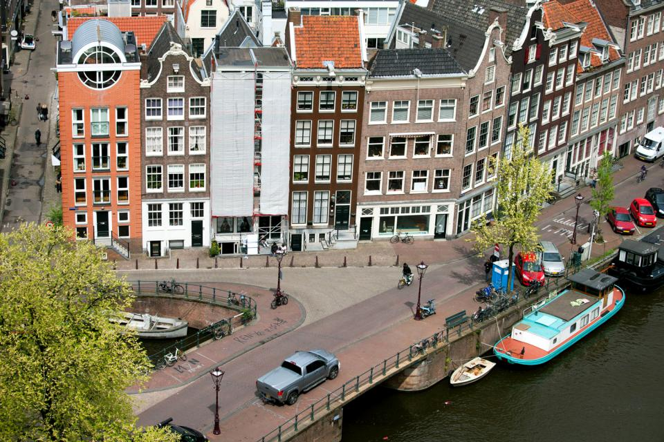 Les canaux d'Amsterdam , Pays-Bas