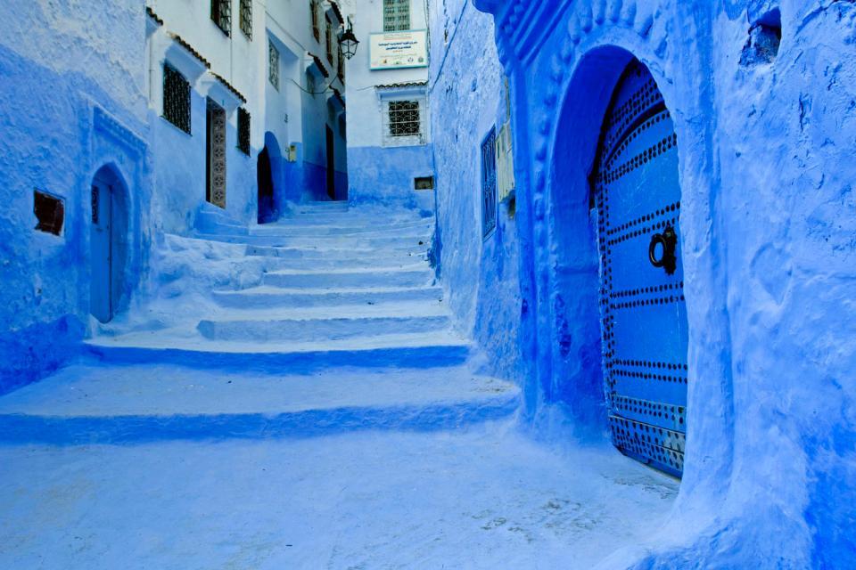 Les ruelles de Chefchaouen , Maroc