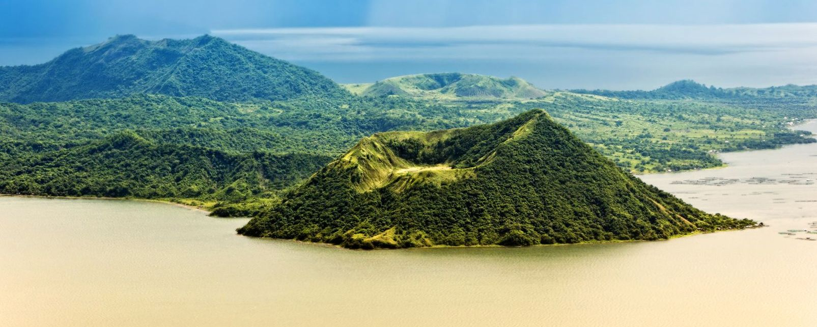 Les paysages, luzon, Philippines, volcan, taal, lac, lagune, batangas, bonbom
