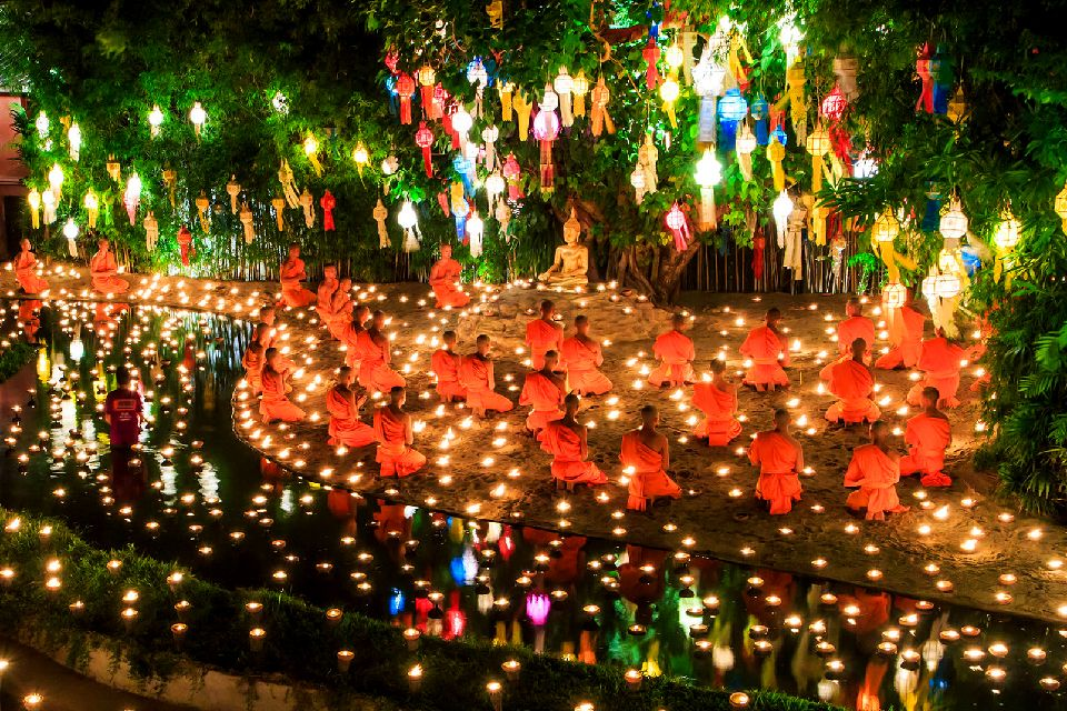 Les temples de Chiang Mai , Les moines de Chiang Mai , Thaïlande