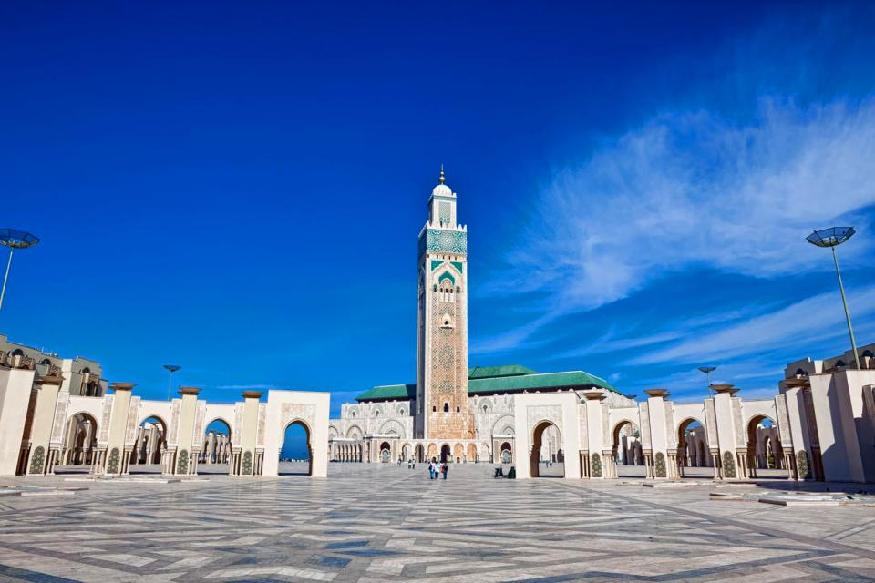 Mosquée Hassan II à Casablanca , Maroc