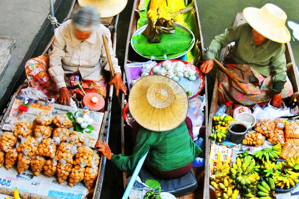 Les marchés flottants de Bangkok , La nourriture des marchés , Thaïlande