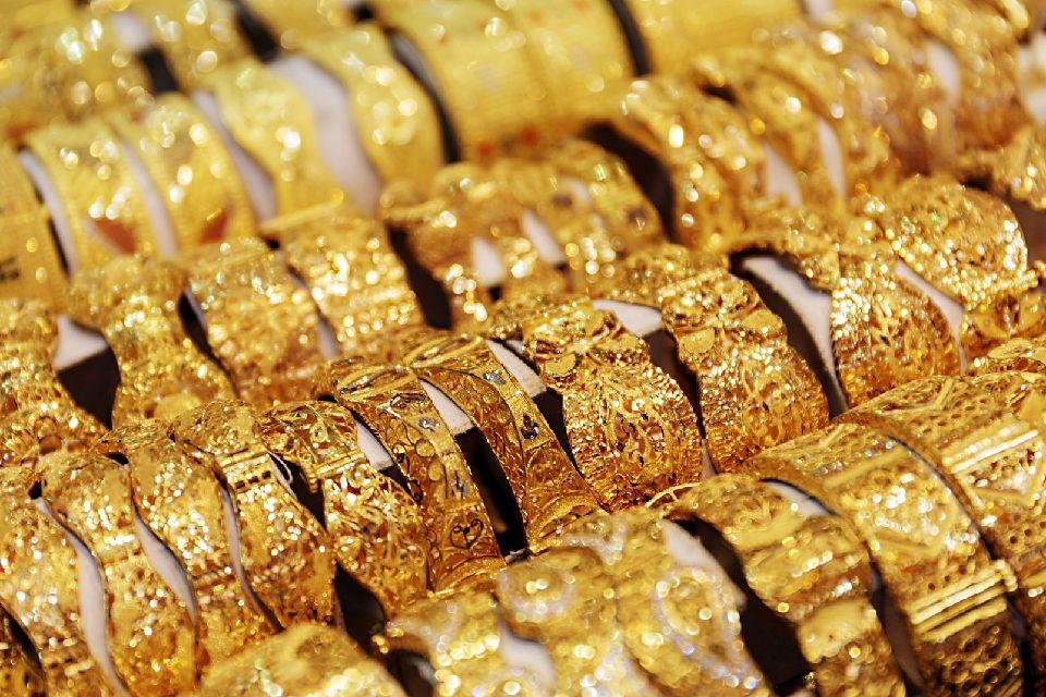 Le souk de l'or à Dubaï , Le Gold Souk , Emirats Arabes Unis