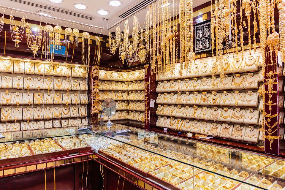 Le souk de l'or à Dubaï , Une quantité impressionnante d'or , Emirats Arabes Unis