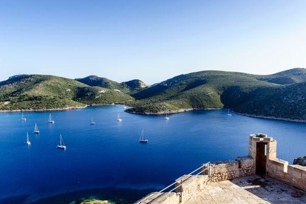 Les paysages, baléares, espagne, cabrera, île, majorque, mer, méditerranée