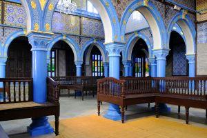 La synagogue de Djerba , Tunisie