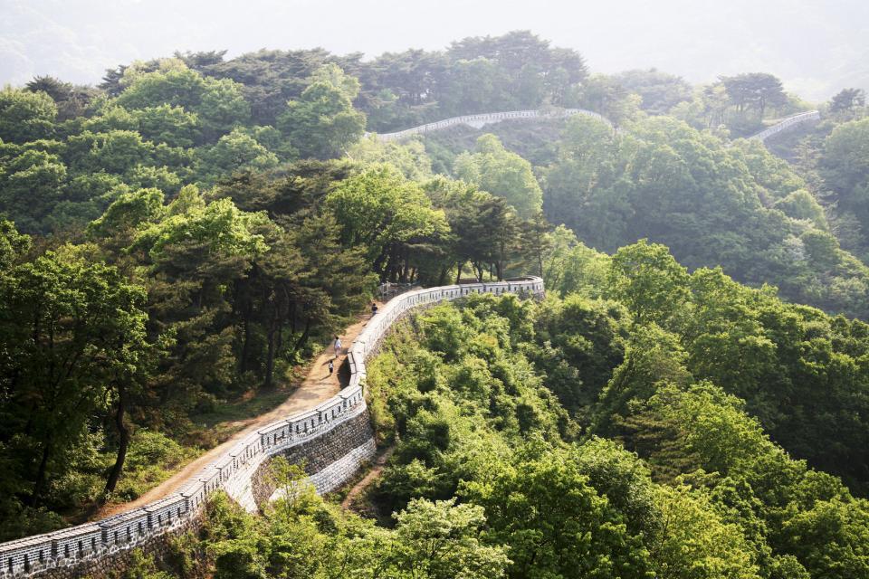 Les vestiges de Namhansanseong , Corée du Sud