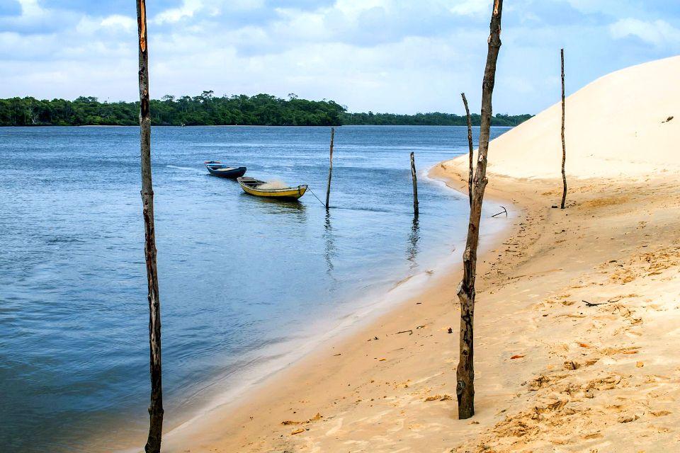 Parc national des Lençóis Maranhenses , Le fleuve Preguiça , Brésil