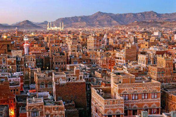 La vieille ville de Sanaa , Yémen