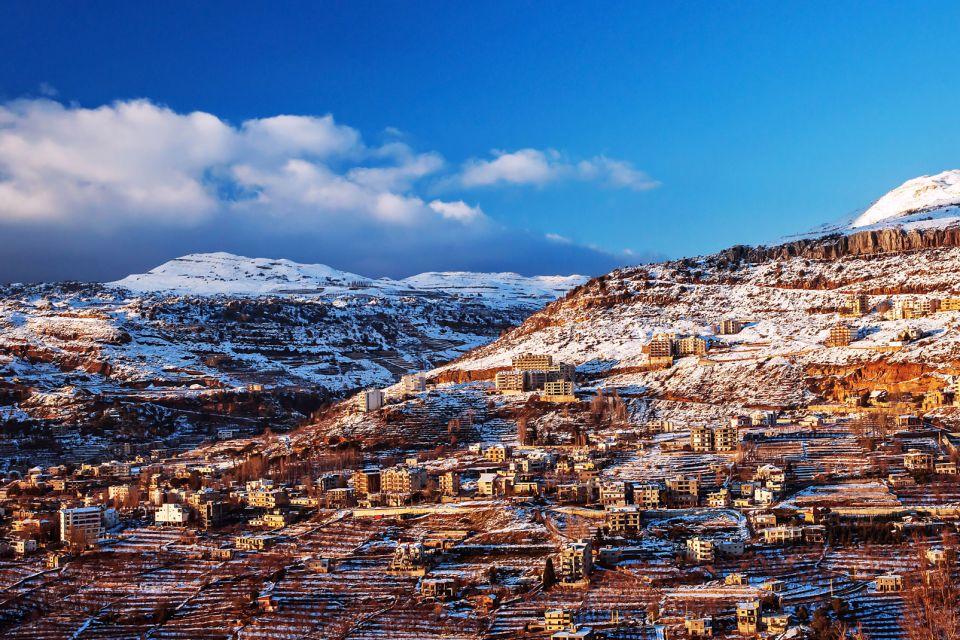 Les stations de ski, moyen, orient, liban, montagne, faraya, chalet, neige, ski