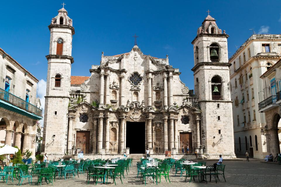 La cathédrale de la Havane , Cuba
