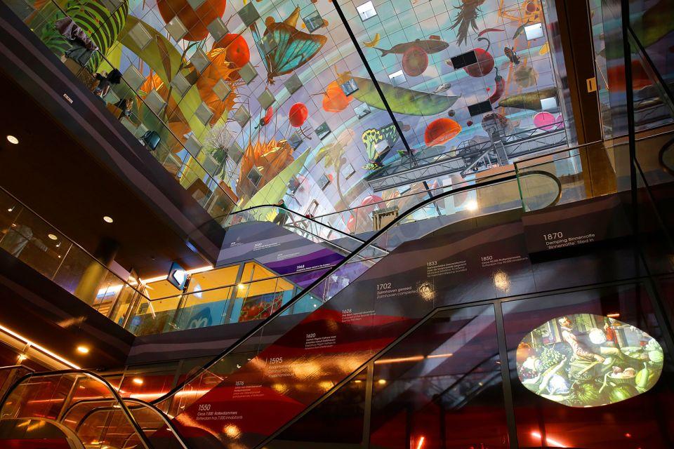 Les arts et la culture, Markthal, Rotterdam, pays-bas, hollande, commerce, marché, architecture, habitation
