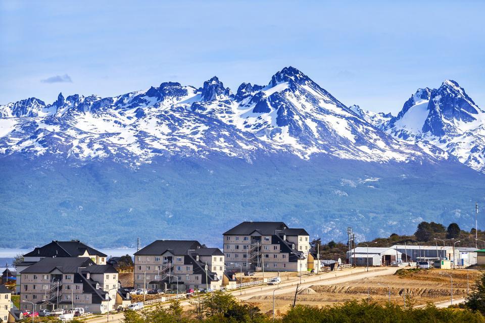 La ville d'Ushuaia , Argentine