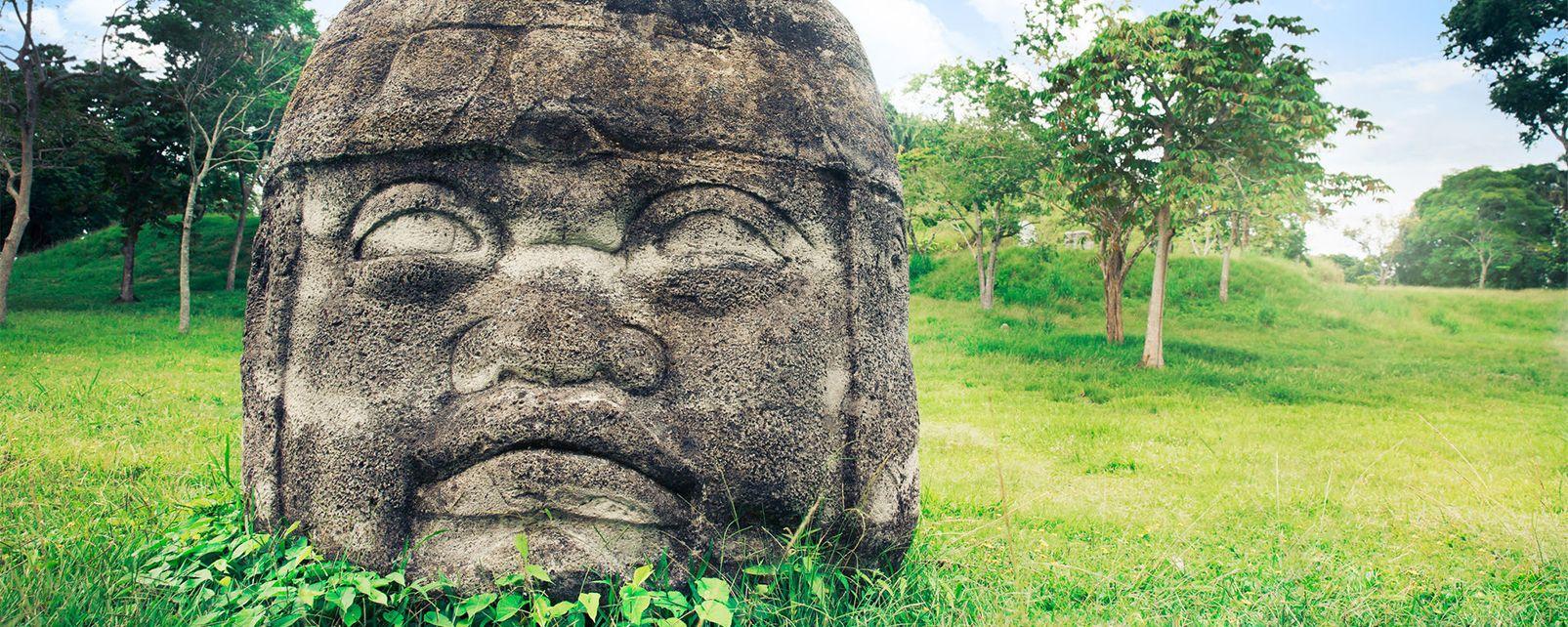 Le site olmèque de La Venta , Mexique