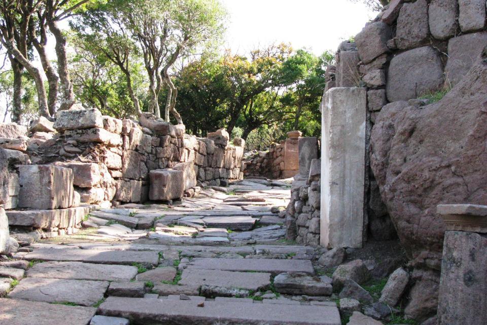 Le site archéologique d'Aigai , Grèce