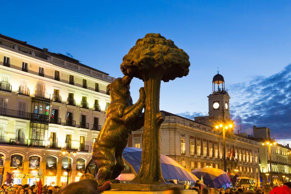 Les monuments, Puerta del sol, soleil, porte, espagne, madrid, communauté, europe, place, ours, statue