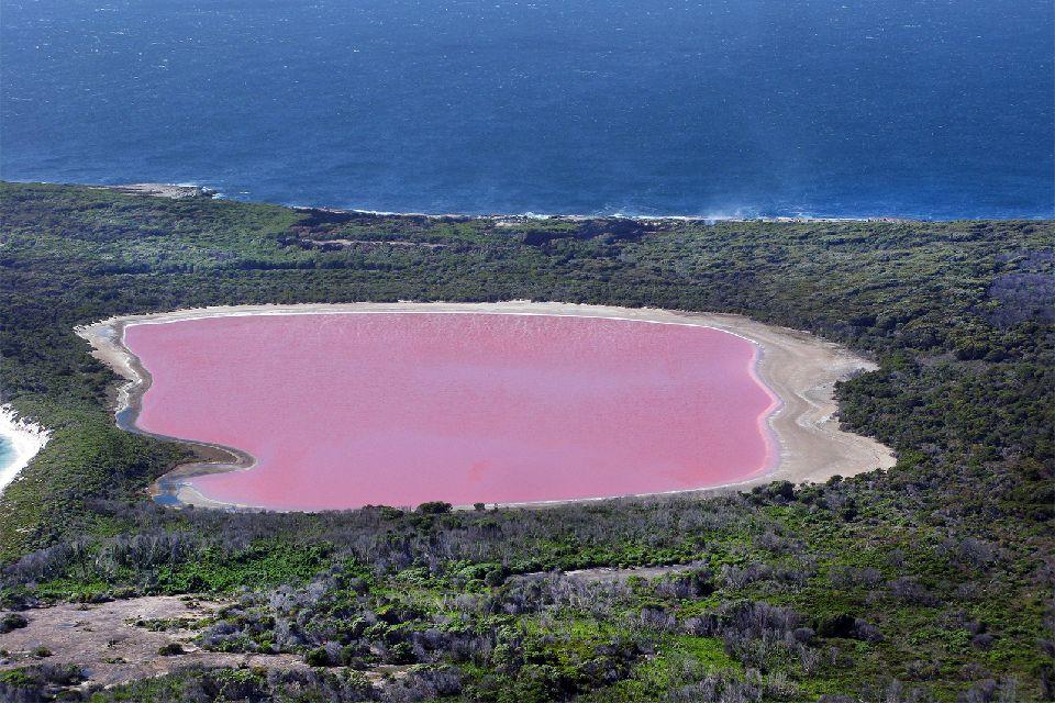 Le lac Hillier en Australie-Occidentale , Australie