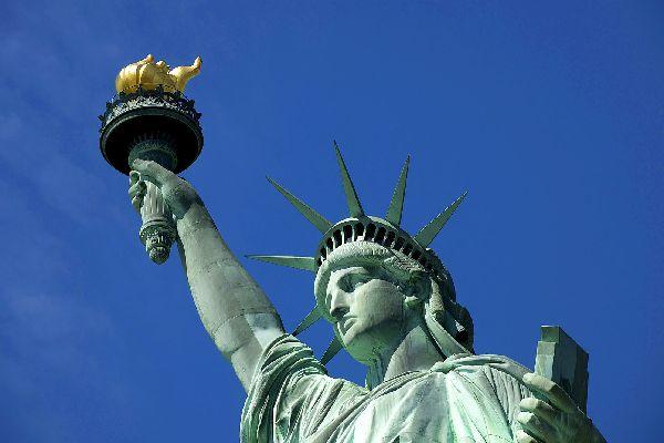 La statue de la Liberté , Une lueur d'espoir , Etats-Unis