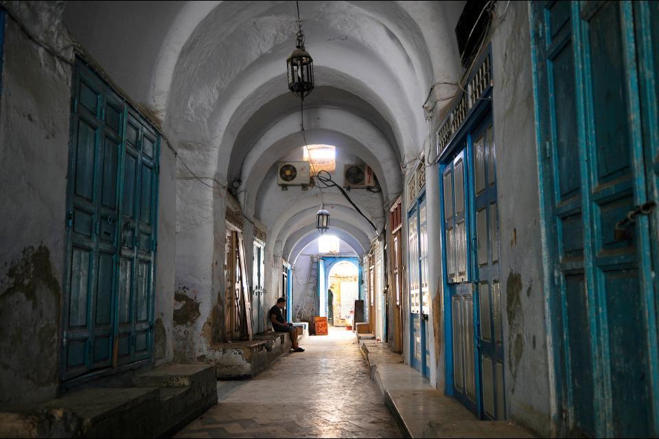La médina de Kairouan , Tunisie