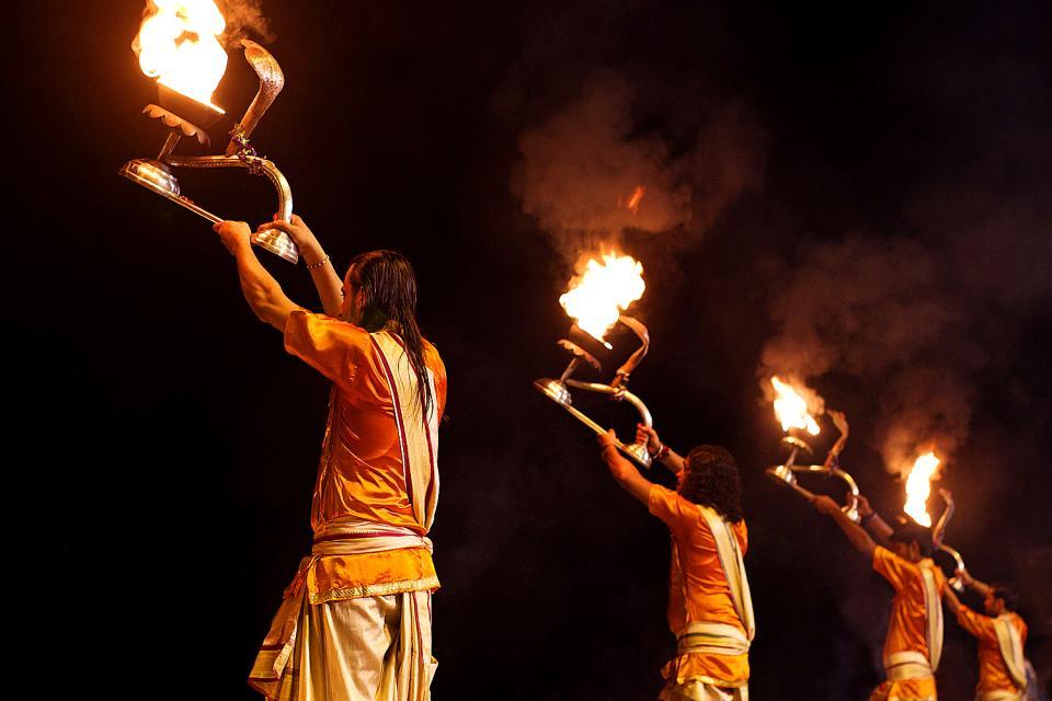 Les Ghats de Bénarès , Inde