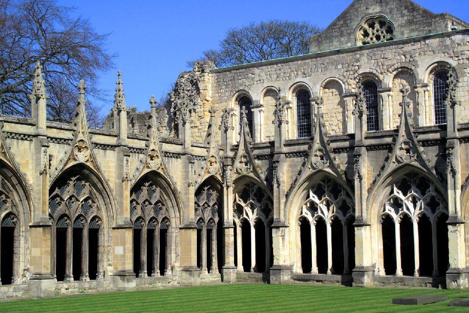 La cathédrale de Canterbury , Arcades du cloître , Royaume-Uni