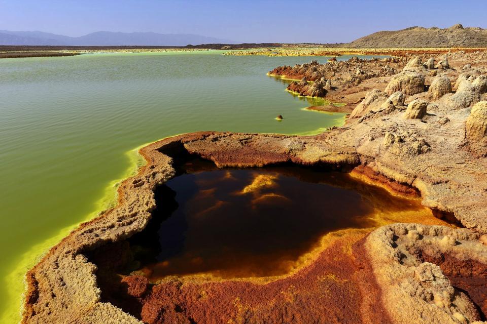 Le volcan de Dallol , Ethiopie