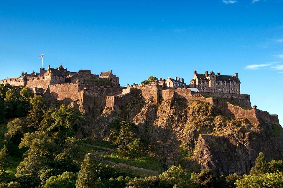 Le château d'Edimbourg , Royaume-Uni