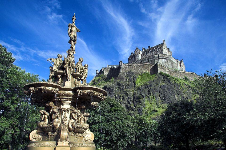 Le château d'Edimbourg , Un château sombre , Royaume-Uni