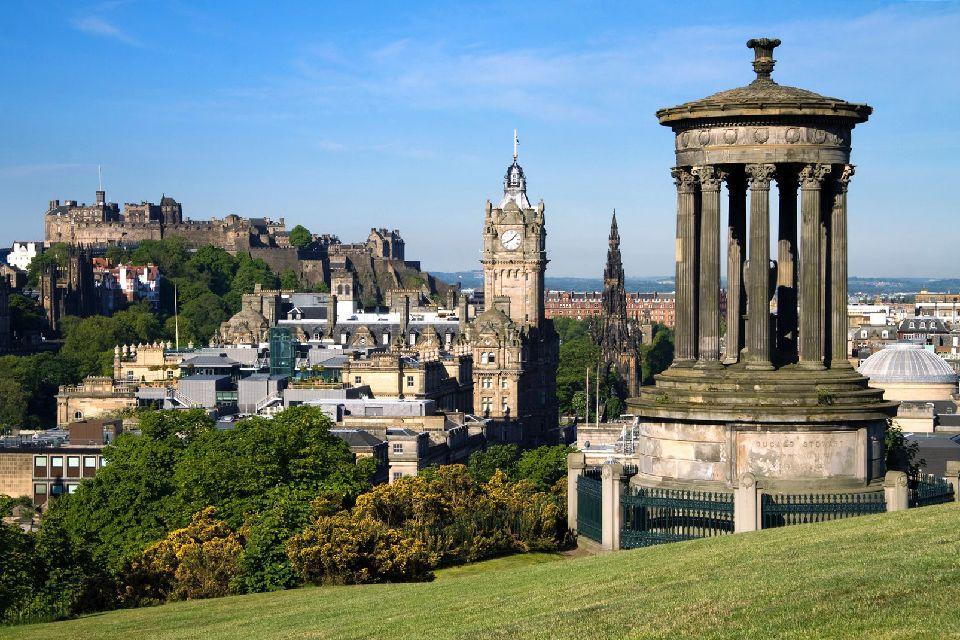 Le château d'Edimbourg , Symbole de la ville , Royaume-Uni