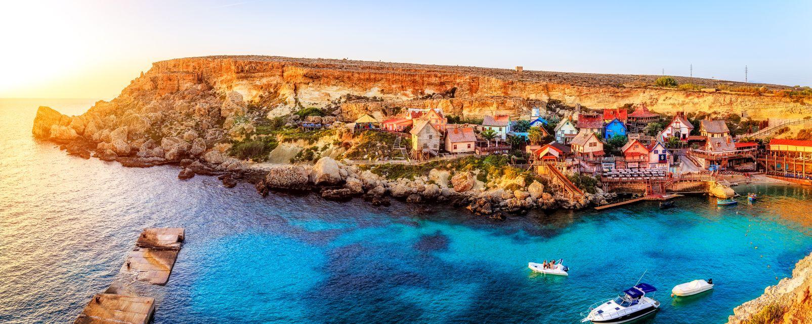 Les arts et la culture, europe, Malte, popeye, village, mer, port, altman, Sweethaven, anchor bay, anchor