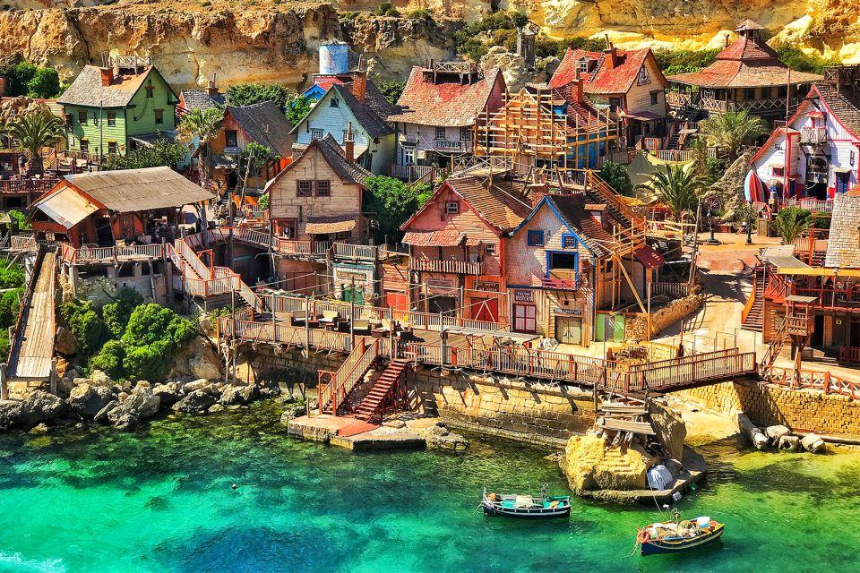 Balade en barques, Le Village de Popeye, Les arts et la culture, La Valette, Malte