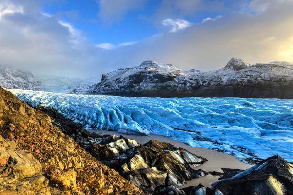 Les grottes de glace de Skaftafell , Islande
