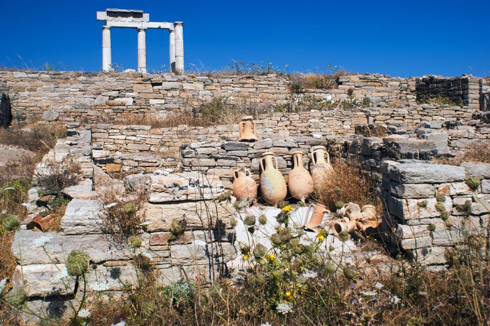 Le sanctuaire d'Apollon à Délos , Grèce