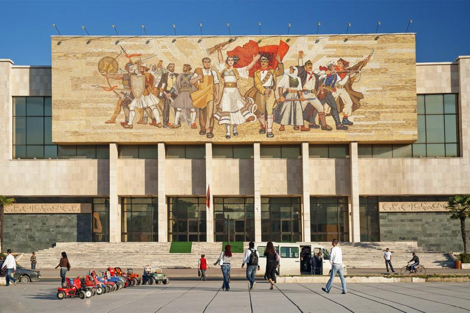 Der sozialistische Realismus , Tirana, Historisches Museum , Albanien