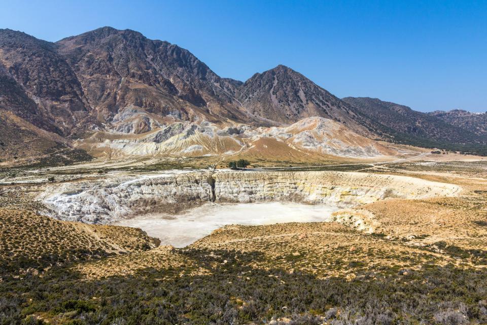 Le cratère de Nisyros , Grèce