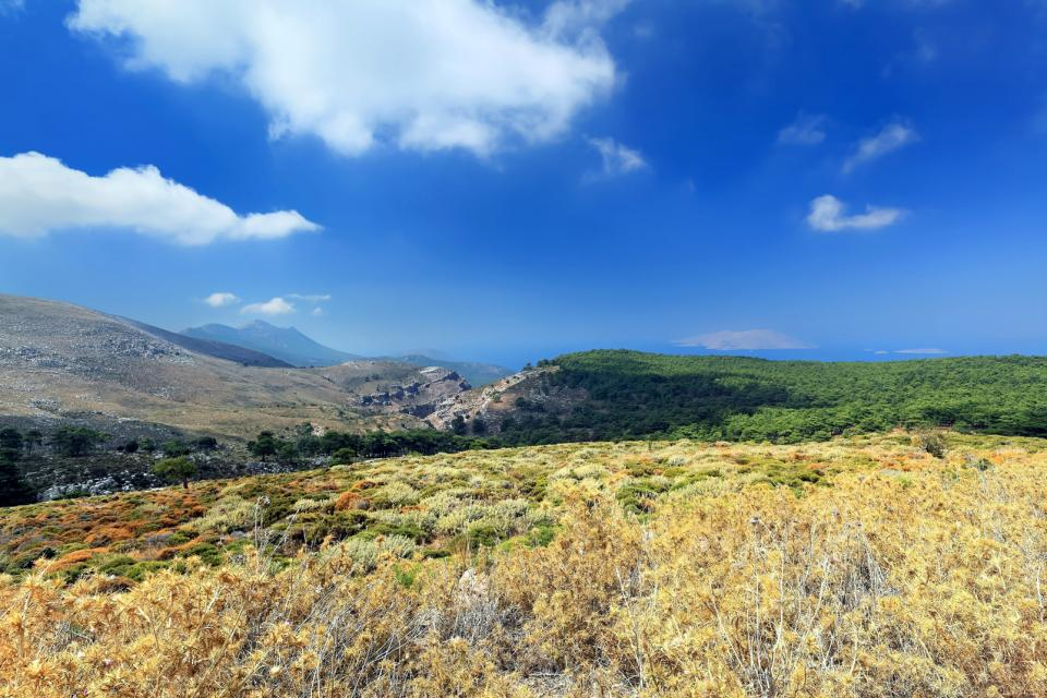 Le mont Attavyros , Grèce
