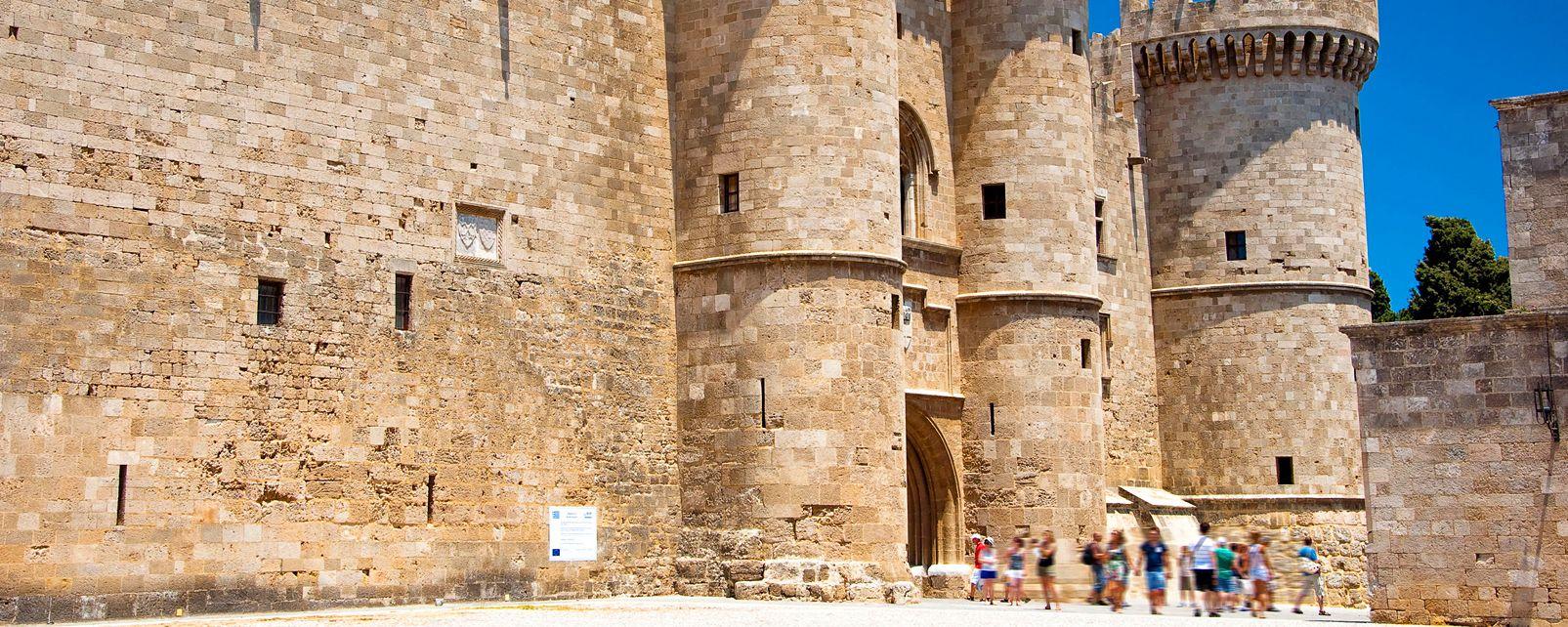 La ville médiévale de Rhodes , Grèce