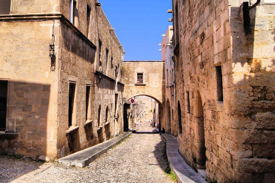 La ville médiévale de Rhodes , Les ruelles de la cité , Grèce