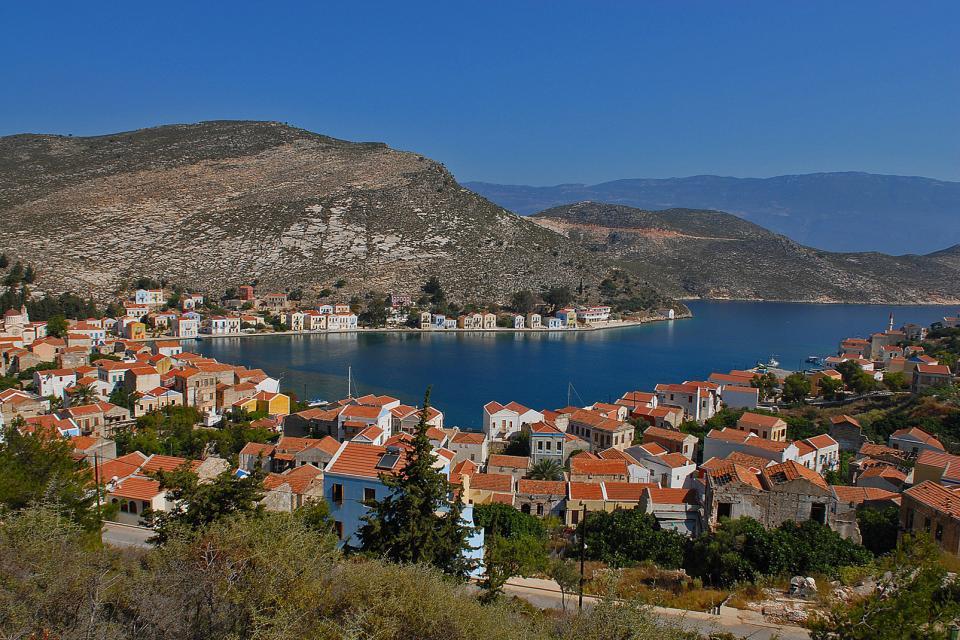 Le port Megisti à Kastellorizo , Grèce