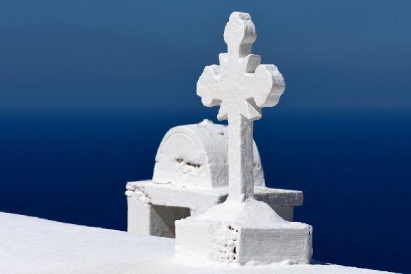 L'église Kyra Panagia à Karpathos , Grèce