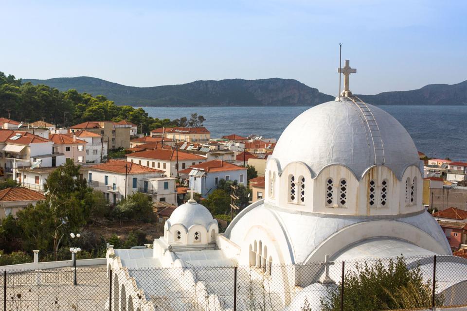 La côte ouest du Péloponnèse , Grèce