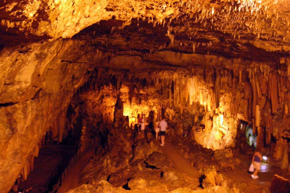 La grotte de Drogarati à Céphalonie , Grèce