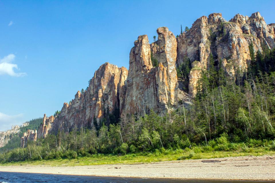 le Parc naturel des colonnes de la Lena , Russie