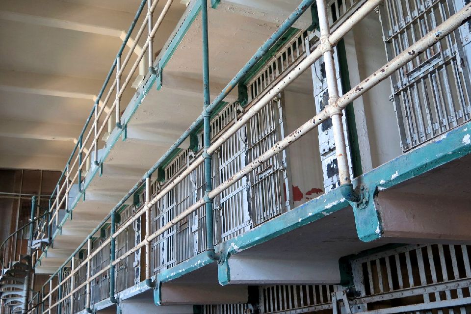 La prison d'Alcatraz , Les cellules des prisonniers , Etats-Unis