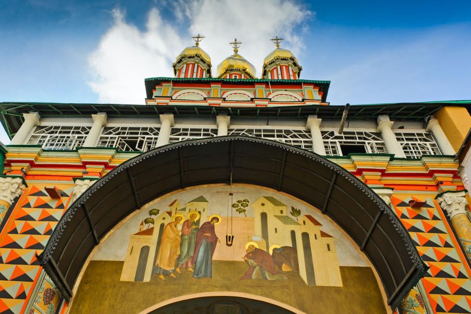 La laure de la Trinité-Saint-Serge , Russie