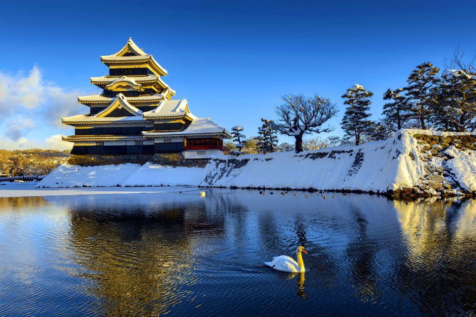 Chateau de Matsumoto , Le chateau de Matsumoto sous la neige , Japon