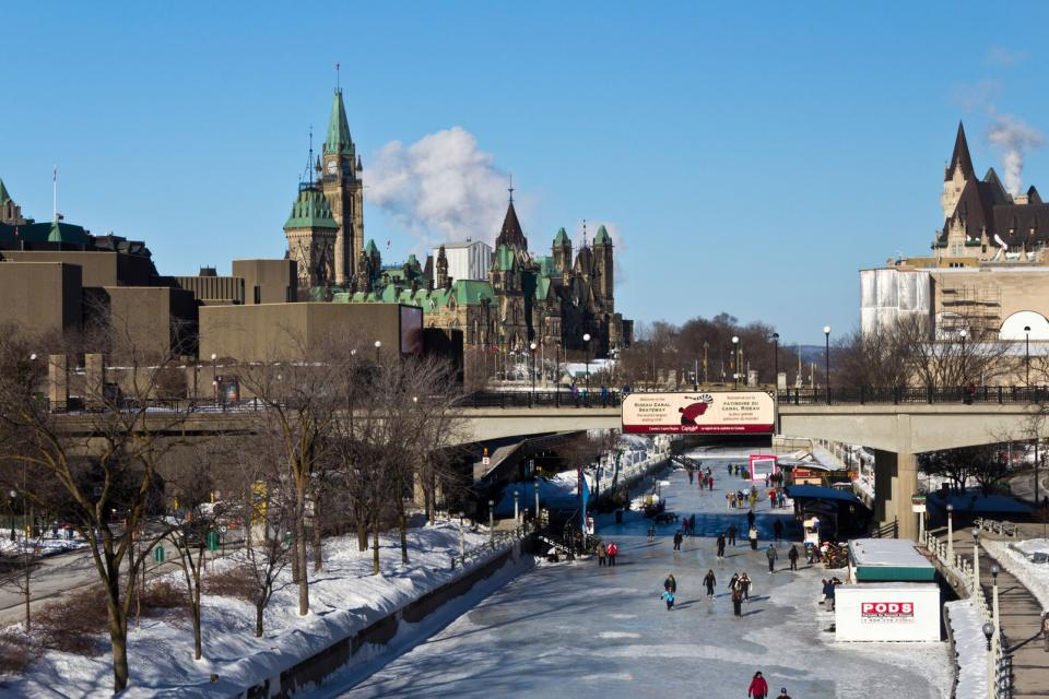 La patinoire du Canal Rideau à Ottawa , Canada