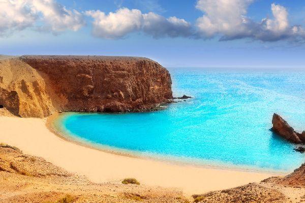 Lanzarote , plage de Papagayao , Espagne