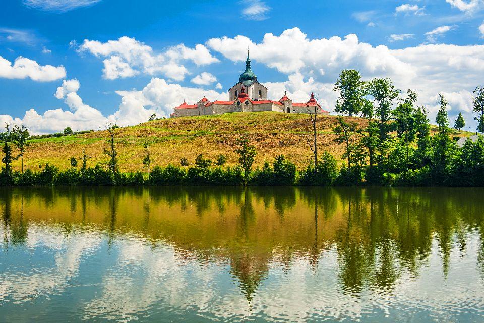 Le mont Zelená hora , République tchèque