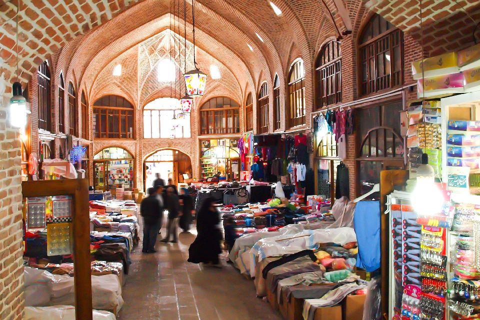 Le bazar de Tabriz , Iran
